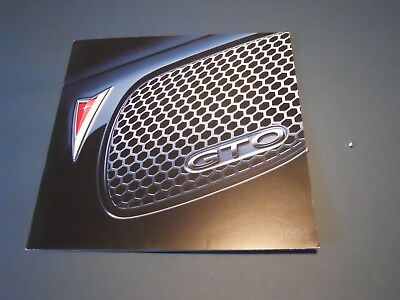 2004 Pontiac GTO  Brochure from the Factory & Dealerships!