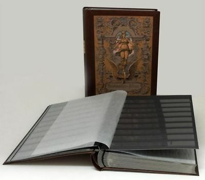 Prophila Stamp Collector's Album with 60 Black Refill Sheets Heritage Design