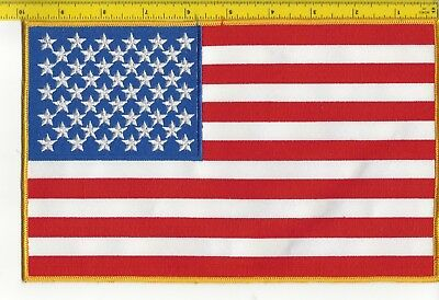 """United States Of America Flag Very Large Patch 6"""" X 10"""" New Unused Embroidered"""