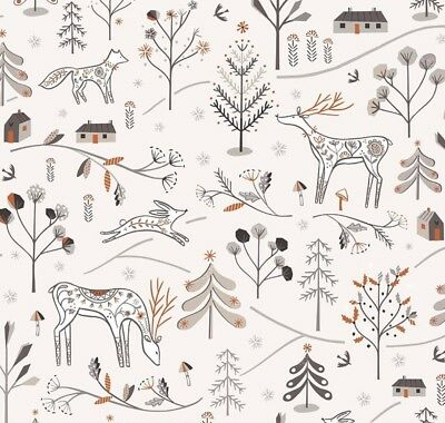"Dashwood Christmas ""Winterfold""White Village Fabric Range  Metallic Sparkly"