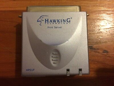 Hawking Technology Parallel 10/100M Print Server model HPS1P  Made in Taiwan