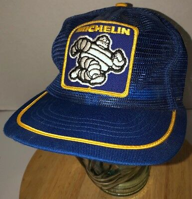 Vintage MICHELIN MAN TIRES 80s USA All Mesh Trucker Hat Cap Snapback  Swingster 82bf8865d762
