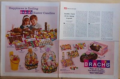 1966 1 1/2 page magazine ad for Brach's Candy - Happiness is Easter Candies