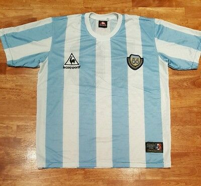 c3167917ae3 VTG Le Coq Sportif Argentina 1986 World Cup Soccer Jersey, Size: See  Measurement