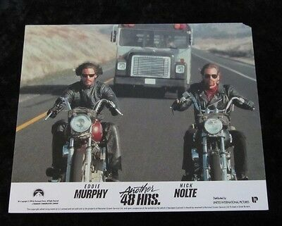 ANOTHER 48 HRS original lobby card #6 - mini UK card BIKES