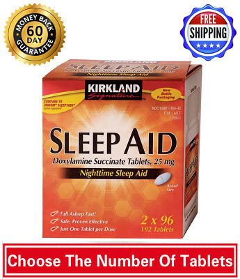 Kirkland Signature Sleep Aid Doxylamine Succinate 25mg 96 - 384 Tablets 06/20