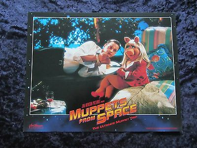 MUPPETS FROM SPACE lobby card # 5 KERMIT THE FROG, MISS PIGGY