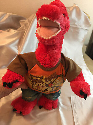 Build A Bear Workshop BABW Dinosaur Fossil Rock Red Plush Stuffed Animal 16""