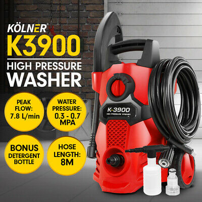 Kolner 2600PSI Cleaner Electric High Pressure Washer Gurney Pump Hose Water Gun