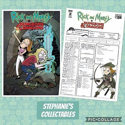 RICK and  MORTY VS DUNGEONS & DRAGONS #2 CVR A/B Oni Press 2018