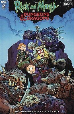 Rick and Morty vs Dungeons & Dragons #2 1:20 Incentive RI Variant IDW Oni 2018