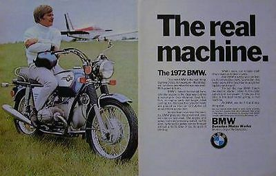 1972 BMW 750 2 Page Original Motorcycle Motorcycle Ad The Real Machine