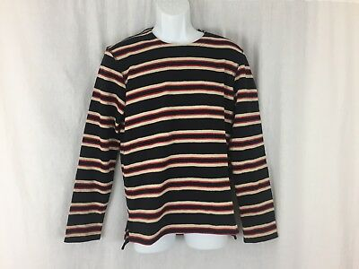 Mens Levis made crafted light weight cotton sweater black red stripe Size 1 New