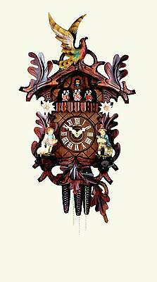 Hubert Herr,  lovely new 1 Day musical  cuckoo clock with music from Germany.