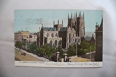 1905 Post Card Antique Collection Stamp on back St. Andrew's Cathrdral Sydney