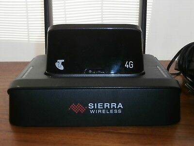 Sierra 4G wireless modem hub for Telstra wireless modem. Keep charged, vastly im