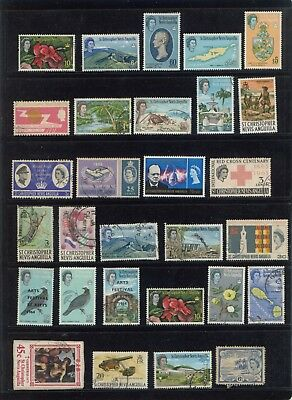 St Christopher Nevis Anguilla collection lot with high value to $5