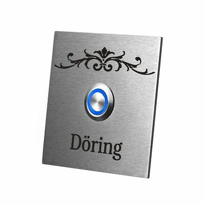 Led Stainless Steel Ring Doorbell Model Falcon Incl. Engraved Design Decorating