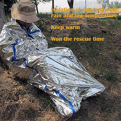 Ultralight Emergency Sleeping Bag Insulation Survival Camping Blanket Portable