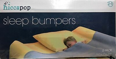 Hiccapop Foam Bed Sleep Bumpers, 2y-6y w/ Water Resistant Cover 2 Pack NEW