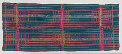 Rectangular cloth for men, Chin people, Burma Myanmar, early 20th century