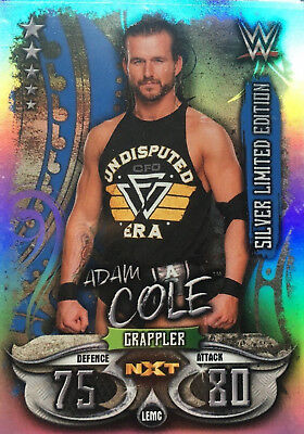 Slam Attax Live Adam Cole Silver Limited Edition Card