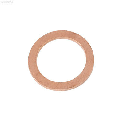 2FF8 20PCS/Pack Copper Washer Solid Gasket Sump Plug Oil Seal Fittings Kit 10X14
