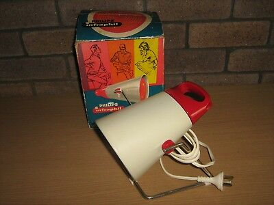 Vintage  Philips Red Infraphil Heat Lamp Original Box.