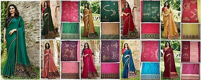 a22c389817879 Indian Wedding Designer SANA SILK saree Bollywood Bridal Party Wear Sari UF