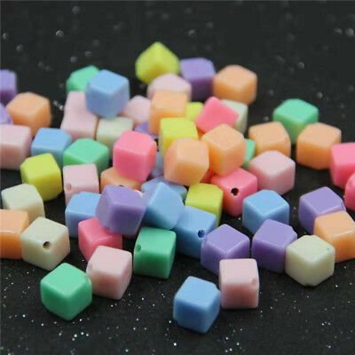 Beautiful Candy Color Mixed Colour Acrylic Square Colourful 10MM Beads