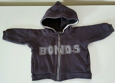 """bonds"" Zip Up Jumper With Hood & Pockets (Size 00 )***excellent Condition***"
