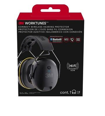 Hearing Protection 3M Bluetooth Ear Muffs Hi-FI Headset Sound Noise 90543-4DC
