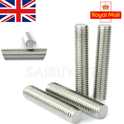 Fully All Threaded Rods A2 Stainless Steel Bars Screw M4 M5 M6 4mm 5mm 6mm