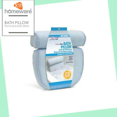 Bath Pillow Cushion Neck & Back Support Comfort Air Fibre Hygiene by Ideaworks