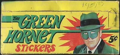 1966 Topps The Green Hornet Stickers 5-Cent Display Box