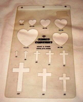 Hearts and Crosses Template for Cabochons