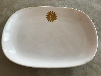 National Airlines Sun King Logo Serving Dish
