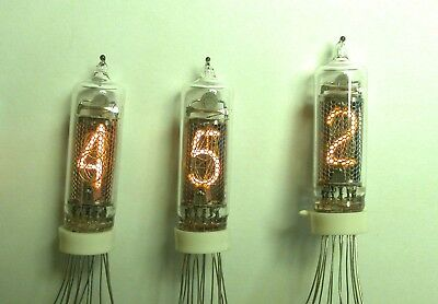 6 x IN-16 RUSSIAN NIXIE TUBES NEW NOS