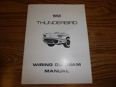 1956 ford thunderbird wiring diagram manual 12 95 picclick rh picclick com  1958 ford thunderbird wiring diagram