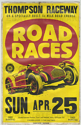 1950's Allard J2 Race Vintage Advertising Poster 11 x 17 Connecticut New England