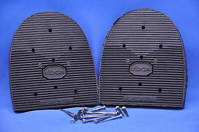 VIBRAM Cowboy Rubber Shoe Repair, Replacement Heels with Nails- 4 Sizes! NEW