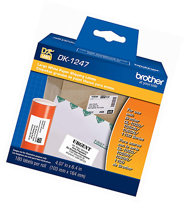 Brother Genuine DK-1247 Die-Cut Large Shipping White Paper Labels for QL Label P