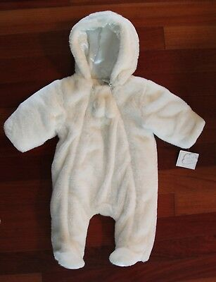 1e787b31f NWT LITTLE ME White Bunting Snow Suit Baby Infant Baby Girls Boys 3-6 Months