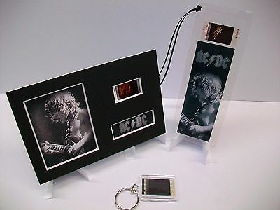 ACDC 3 Piece Movie Film Cell Memorabilia Complements dvd poster book