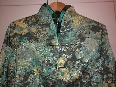 Vintage  Chinese Silk Mix Brocade Jacket Size Med/large Excellent Condition