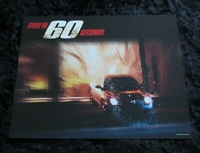GONE IN 60 SECONDS lobby card # 7 CAR RACING