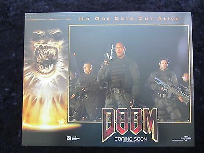 DOOM lobby card # 6 - DWAYNE JOHNSON, THE ROCK, KARL URBAN
