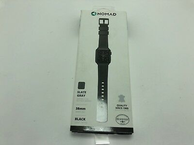 Apple Watch Band 40mm 38mm series 4 3 2 1 by Nomad Leather Watch Strap Black