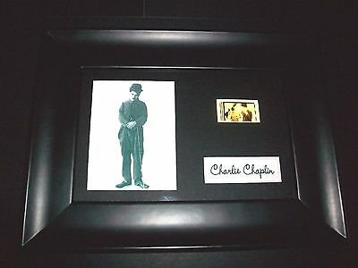 CHARLIE CHAPLIN Framed Movie Film Cell Memorabilia Compliments poster dvd