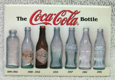 Coca-Cola Bottle History Magnet, New!